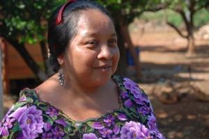 Schwägerin Regina Amelia lebt auch in der Mayahütte