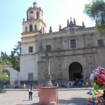 Koloniale Kirche in Coyoacan