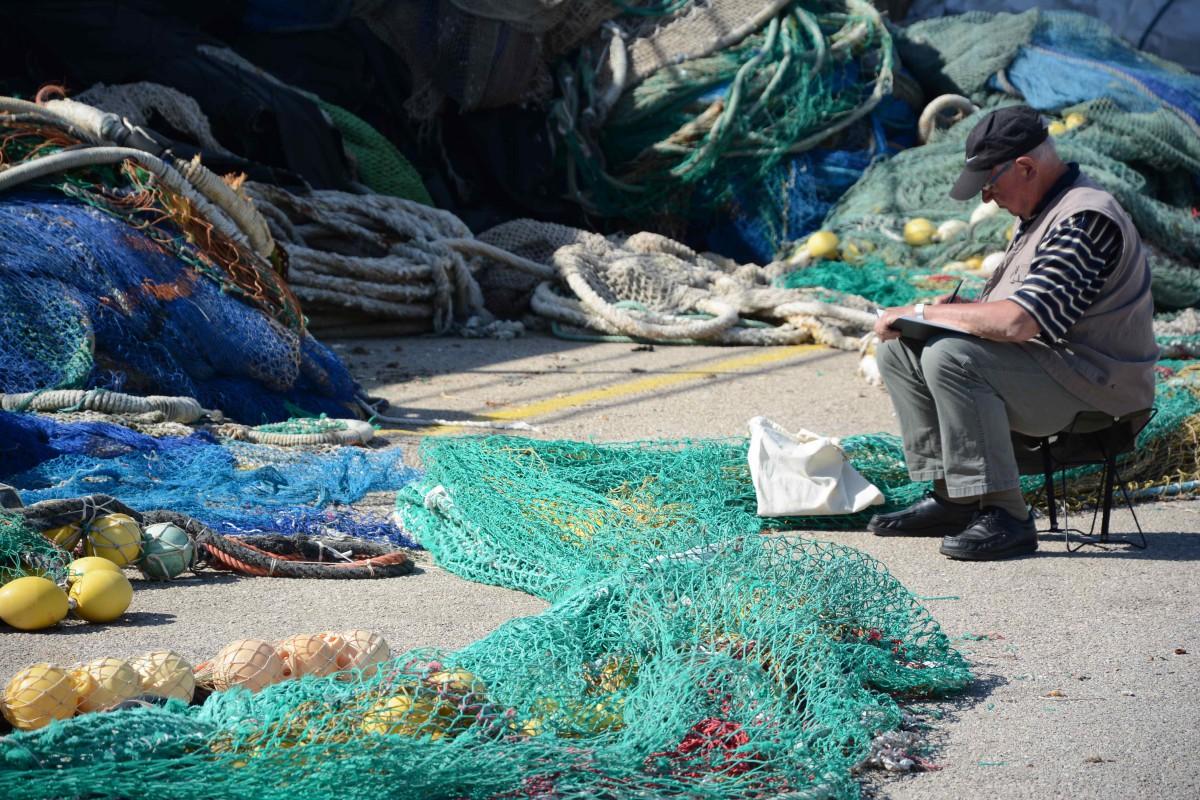 Fischer im Hafen von Cala Ratjada