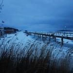Auch im Winter setzen die Klimaforscher auf die gegenübeliegende Insel Vilm über