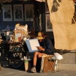Maler verkaufen ihre Bilder