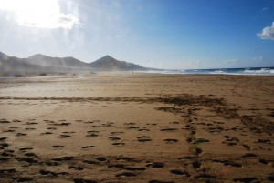 Endlose Weite am Playa Cofete