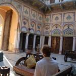 Restaurierter Innenhof eines Haveli in Navalgarh