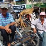 Wartende Rikschafahrer