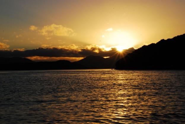 Sonnenuntergang auf Stewart Island