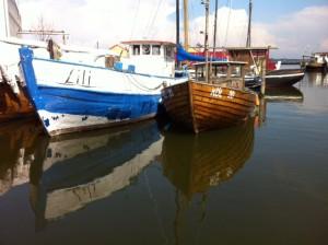 Charaktervolle Boote in der Werft