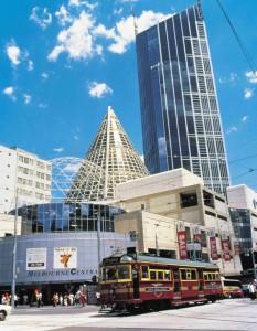 Die City Circle Tram kurvt durch Melbournes Straßen